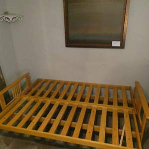 Lot # 112- Futon Bed frame and more!