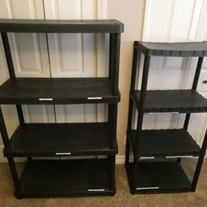 Lot # 117- Two plastic shelves