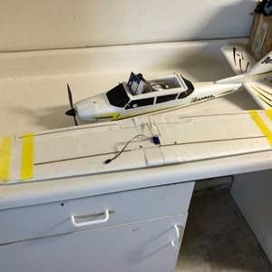 Lot # 9- Large remote plane- Only flown once- may need minor repairs