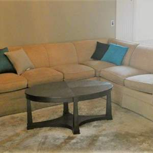 Lot # 59- Sectional Couch with Coffee Table