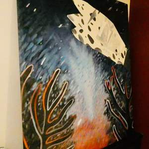 Lot # 100- Extra Large Oil Painting on Canvas