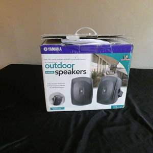 Lot # 201- Yamaha outdoor speakers- new in box