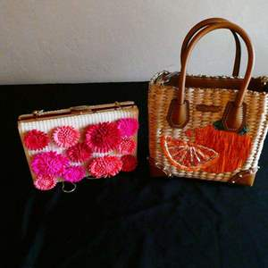 Auction Thumbnail for: Lot # 203- Two new condition basket purses- 1 Kate Spade and 1 Michael Kors