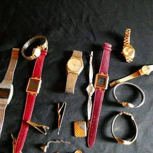 Lot # 206- Watches, bands, cuff links and more
