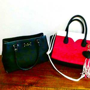 Lot # 208- Gently used Kate Spade and Betsy Johnson hand bags