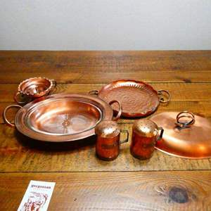 Auction Thumbnail for: Lot # 224- Stylish copper collection