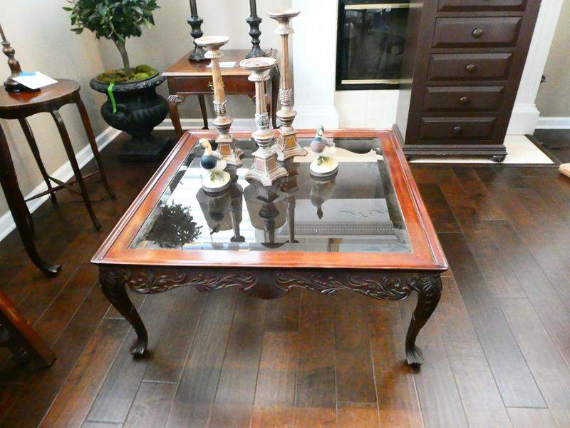 Lot # 5- Glass top Coffee Table with Decor Pieces! (main image)