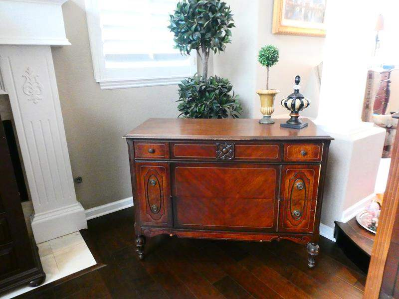 Lot # 8- Antique Buffet with Decor! (main image)