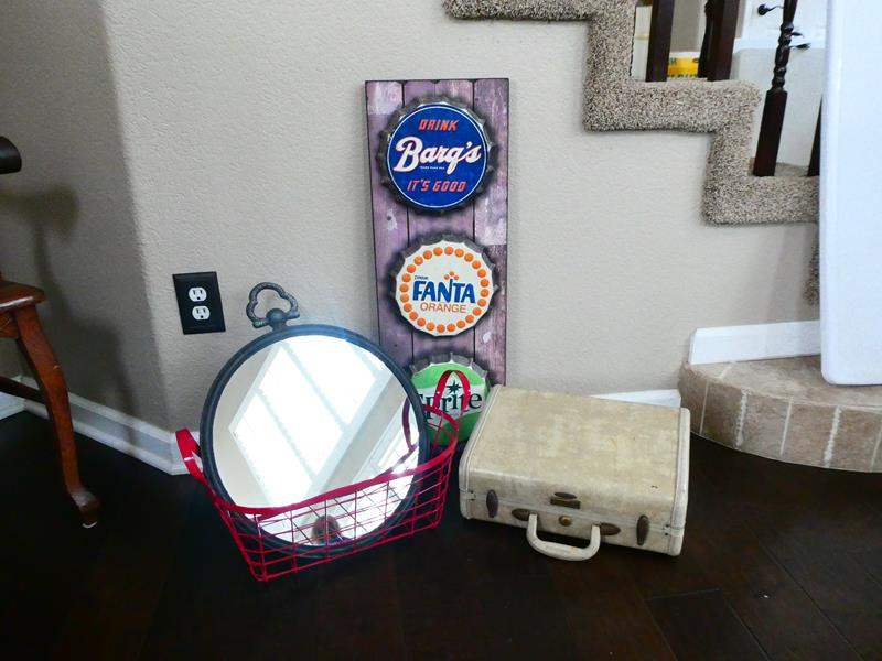 Lot # 18-Vintage Samsonite Luggage, soda wall hanging,  and More! (main image)