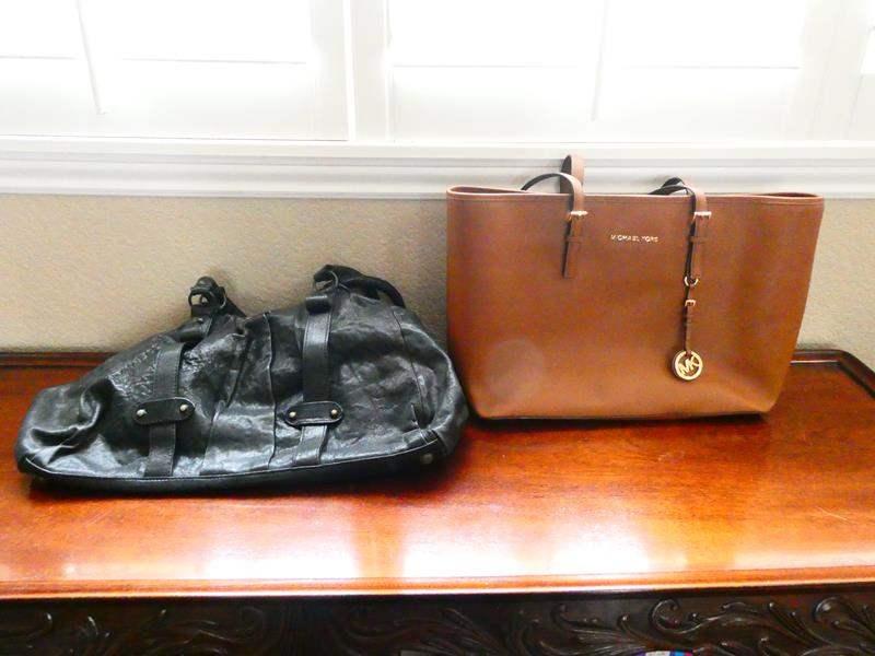 Lot # 19-Michael Kors purse and Jacks Place Leather handbag (main image)