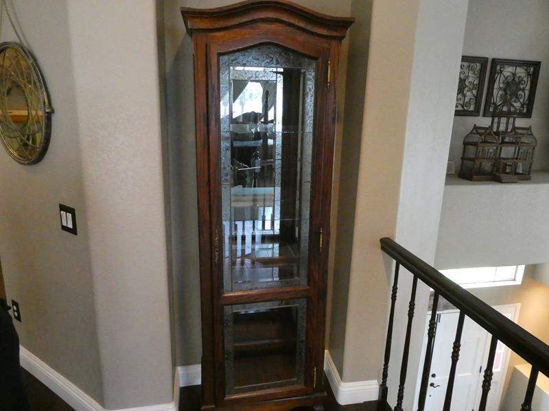 Lot # 114- Vintage curio cabinet (main image)