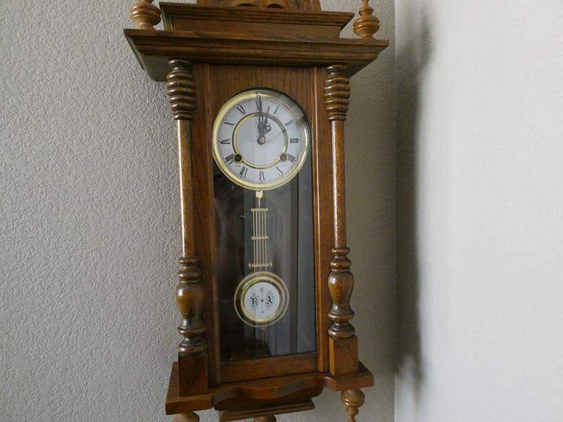 Lot # 123- Wall clock with key! (main image)