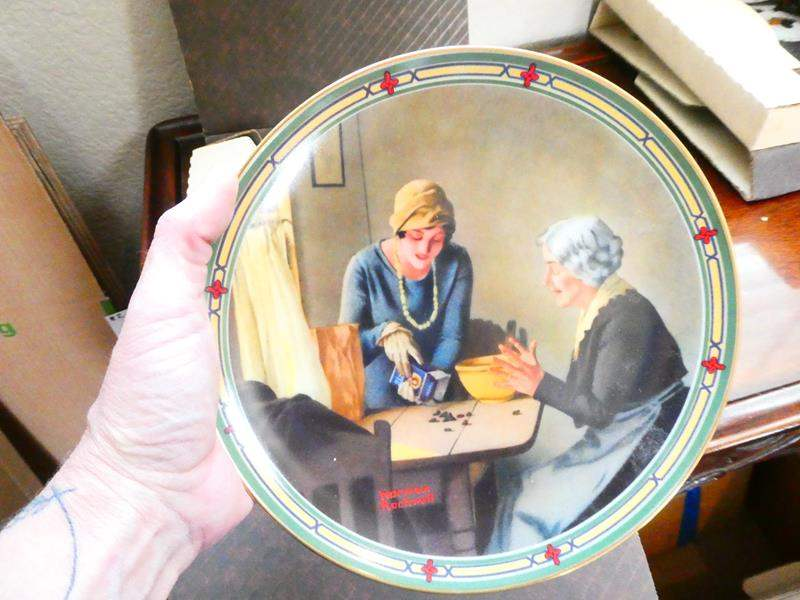 Lot # 33- 13 Norman Rockwell Collector's Plates in boxes and Certificates!  (main image)