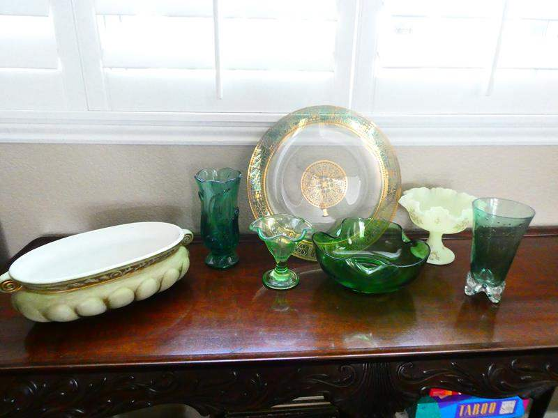Lot # 39- Beautiful Glass Pieces, 1 made in Portugal! (main image)