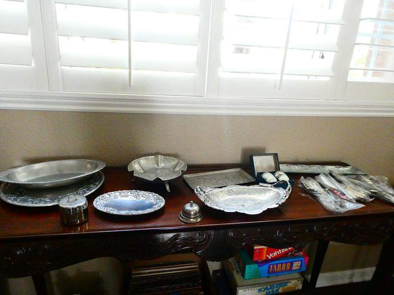 Lot # 47- Silver and Silver Plated Pieces! some Lenox (main image)