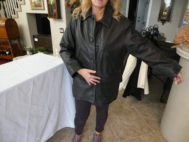Lot # 163- Men's Timberland leather jacket (main image)