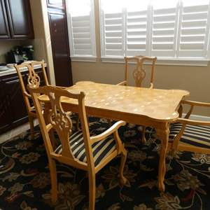 Auction Thumbnail for: Lot # 164- Gorgeous Mantovanelli table and chairs