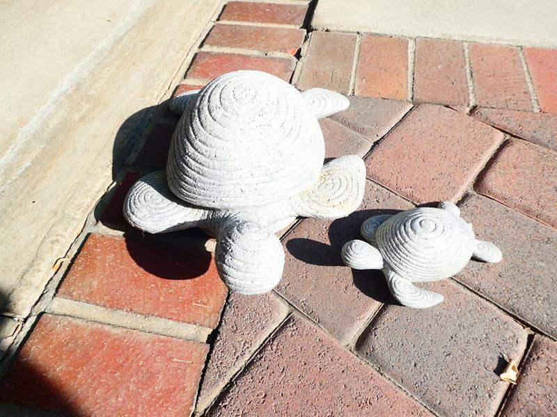 Lot # 57- Yard Art! 2 Artificial Stone Turtles and More! (main image)
