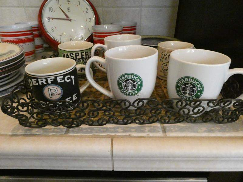 Lot # 169- Starbucks mugs and Assorted kitchen dishes (main image)
