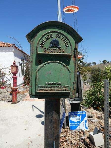 Lot # 103- Vintage Green police patrol station box! (main image)