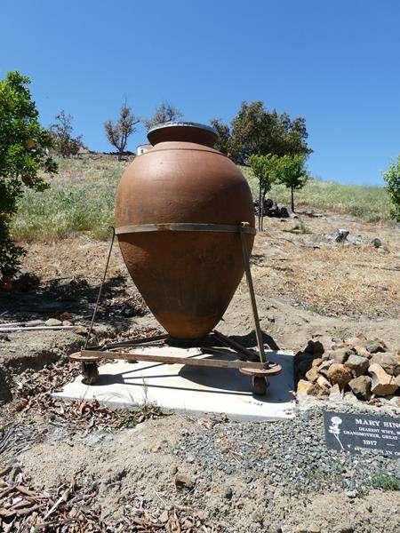 Lot # 105- GIANT concrete, terracotta vase/pot (main image)