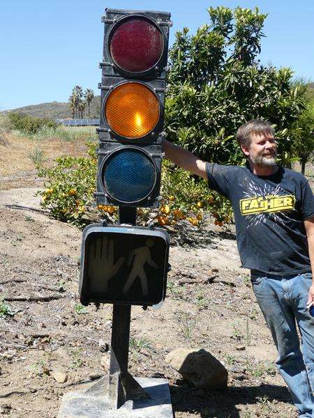 "Lot # 108- Authentic Stoplight, ""walk don't walk"" signal (main image)"