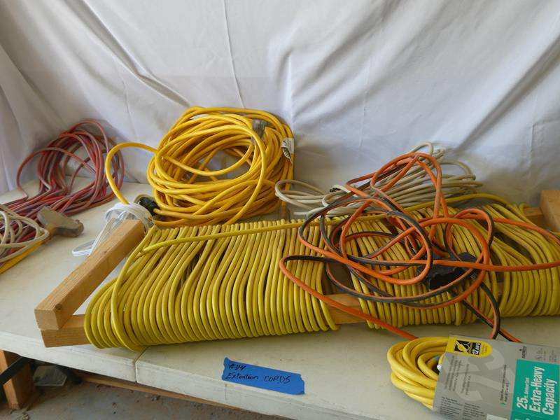 Lot # 114- Extension cords and more (main image)