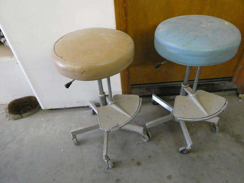 Lot # 121- Two shop chairs (main image)