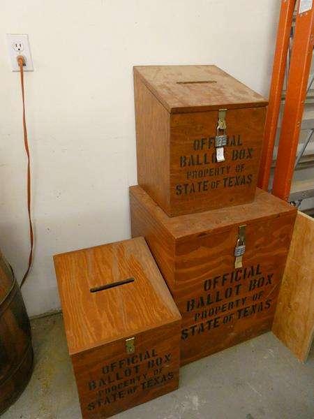 "Lot # 122- Texas ""official ballot boxes"" (main image)"