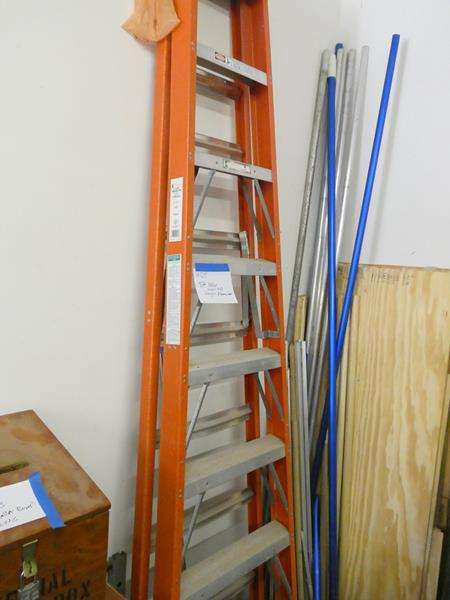 Lot # 125- 8 foot Keller fiberglass ladder (main image)