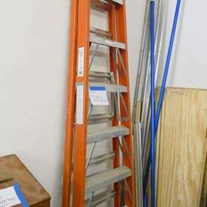 Auction Thumbnail for: Lot # 125- 8 foot Keller fiberglass ladder
