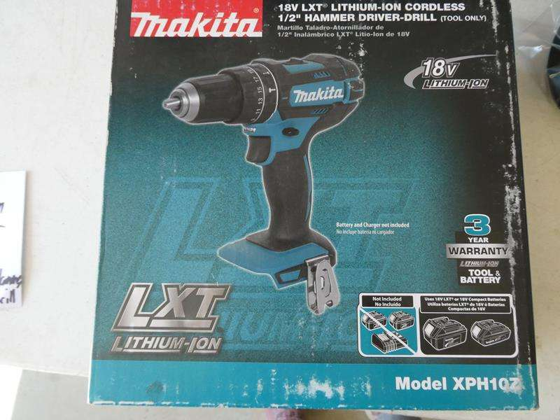 Lot # 130- Makita blower (new in box) & 18V Cordless drill(new in bow) (main image)