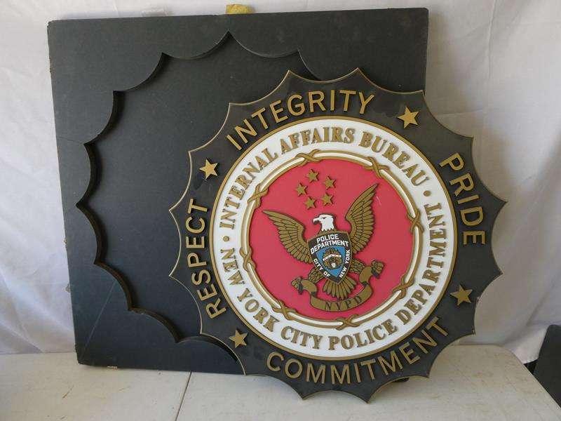 Lot # 131-NYC Police Dept. Internal Affairs Bureau Sign (main image)