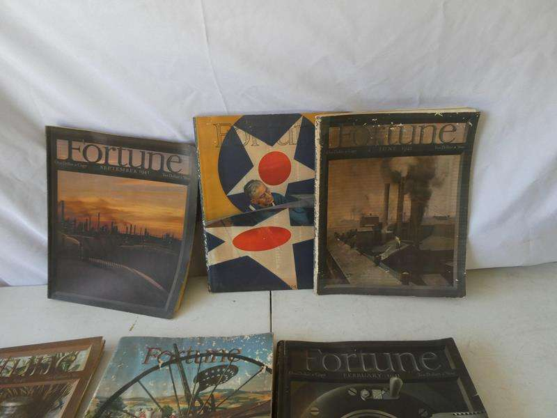 Lot # 144- Vintage Fortune magazines from the 1940's! (main image)
