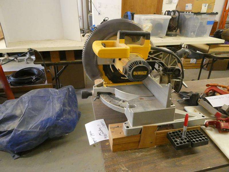 Lot # 145- DeWALT compound miter saw in excellent condition (main image)