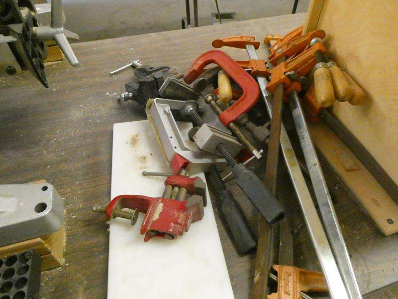 Lot # 146- Different sized clamps (main image)