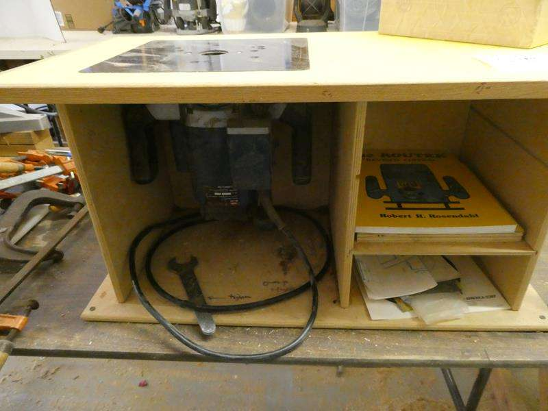 Lot # 147- Router table with router  + extras! (main image)