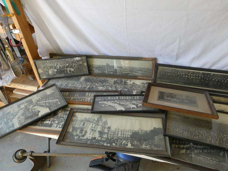 Lot # 152- Black and white framed photos (main image)