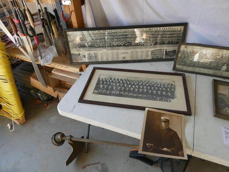 Lot # 156- Vintage military and Boy Scout framed photos (main image)