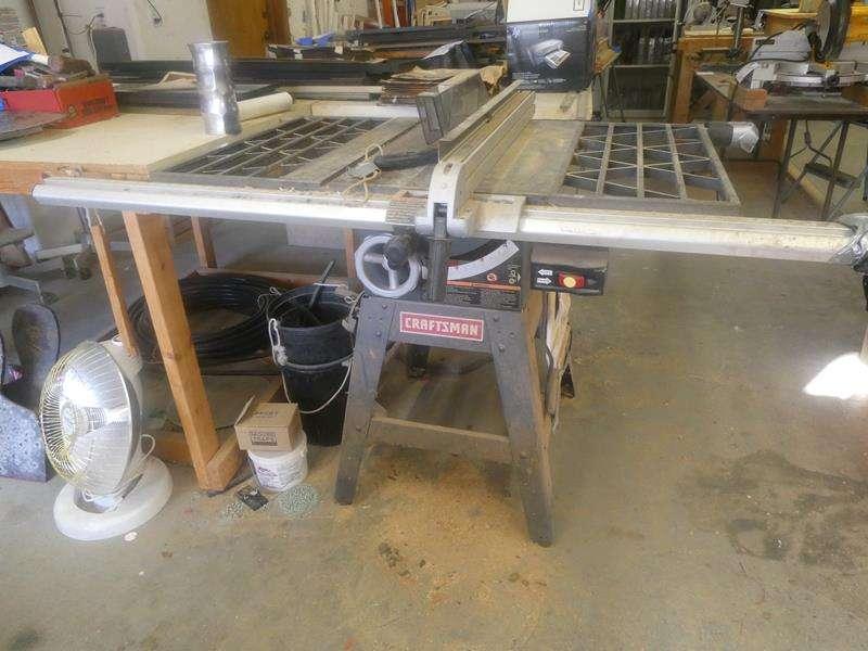 Lot # 164- Craftsman table saw (main image)