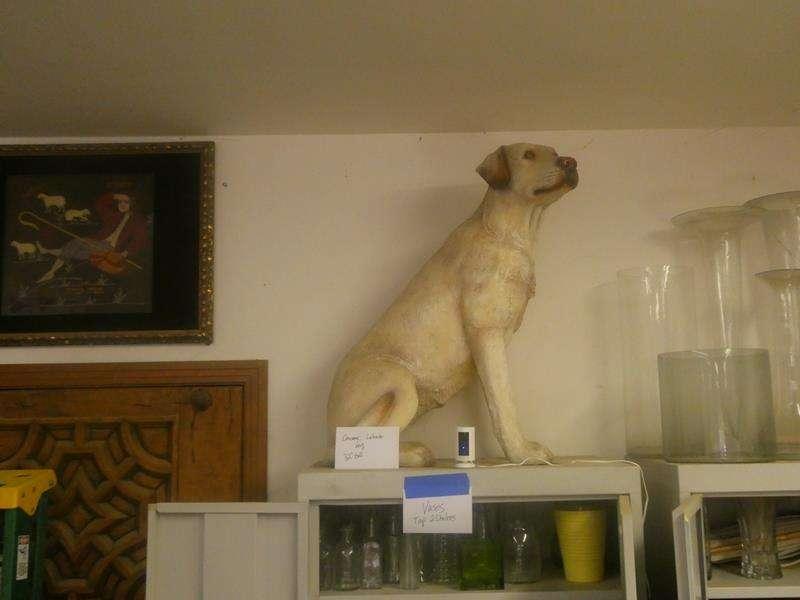 Lot # 166- Cute ceramic Labrador dog! (main image)