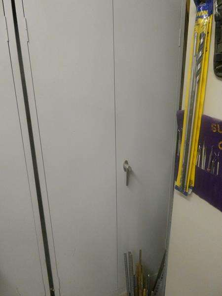 Lot # 174- Storage cabinet- Perfect to organize your garage supplies in! (main image)