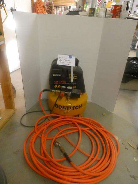 Lot # 176- Tested Bostitch air-compressor + hose! (main image)
