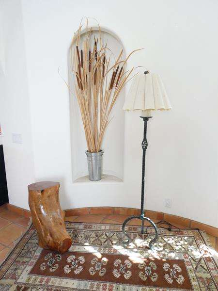 Lot # 2-Rustic Living Room Must Have's! Avocado Glazed Tree Stump/ end table (main image)