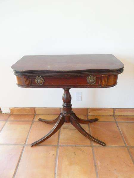 Lot # 8-Antique Carolina Panel Co. Table. Made in 1948! (main image)