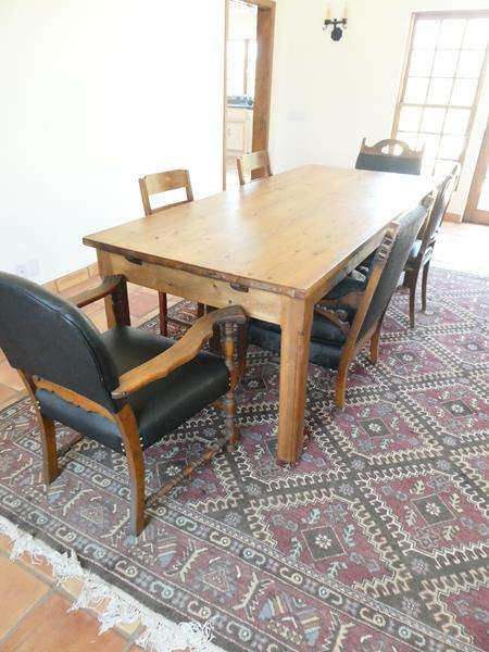 Lot # 25-Handcrafted Beautiful Dining Room Table with Chairs (main image)