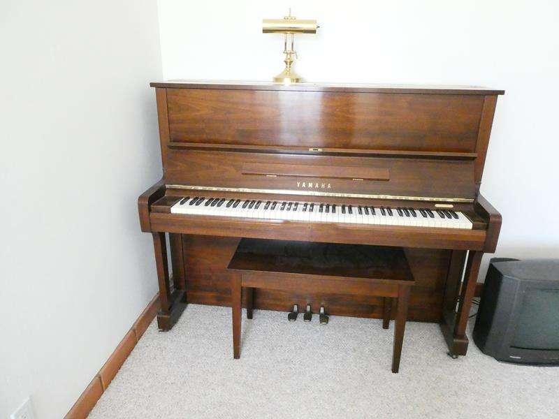 Lot # 42-YAMAHA Piano with Bench and Light! (main image)