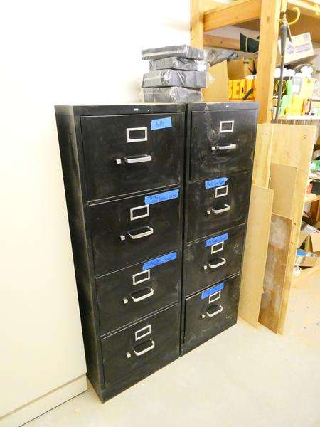 Lot # 177- Two filing cabinets with contents included (main image)
