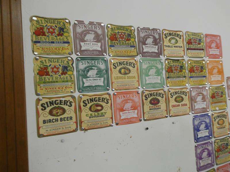 Lot # 180- Vintage Singer Soda Labels. Hundreds of them!!  Handed down from the family. Look them up on Ebay!  (main image)