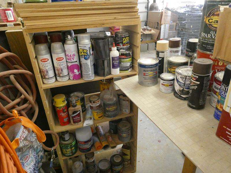 Lot # 184- Paint supplies and extension cords (main image)